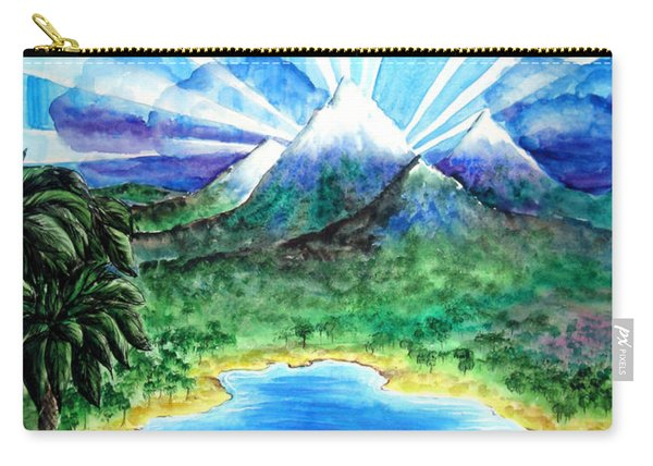 Last Day Of Beautiful Land. Laser Lights Carry-all Pouch