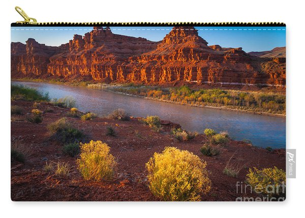 Last Light At San Juan River Carry-all Pouch