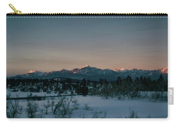 Carry-all Pouch featuring the photograph Last Light On Pagosa Peak by Jason Coward