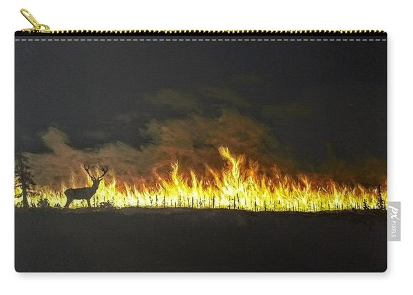 Carry-all Pouch featuring the painting Last Look Back At Home by Kevin Daly