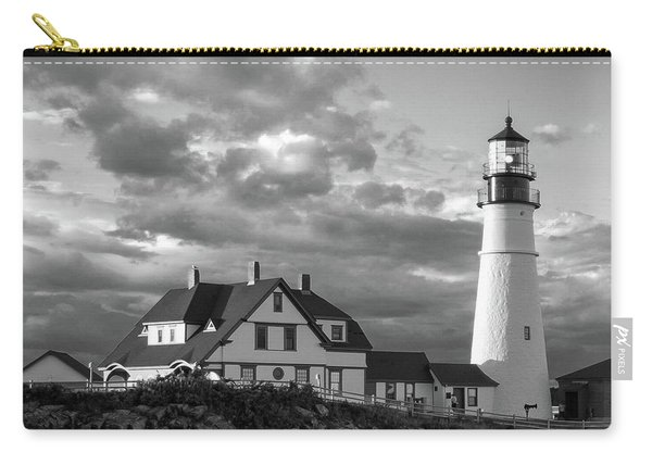 Late Afternoon Clouds, Portland Head Light  -98461-sq Carry-all Pouch