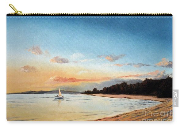 Late Sunset Along The Beach Carry-all Pouch