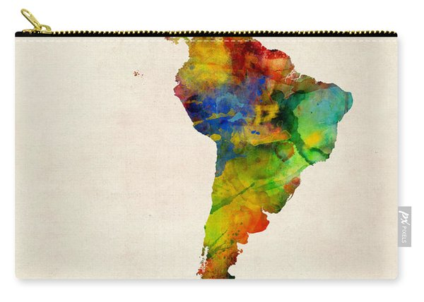Latin America Watercolor Map Carry-all Pouch