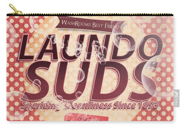 Laundo Soap Suds Advertising Carry-all Pouch