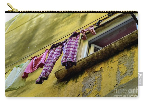 Laundry Hanging In Rovinj, Croatia Carry-all Pouch