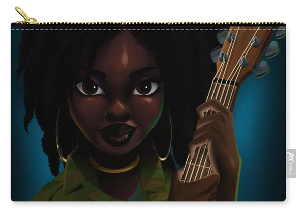 Carry-all Pouch featuring the digital art Lauryn Hill by Nelson Dedos Garcia