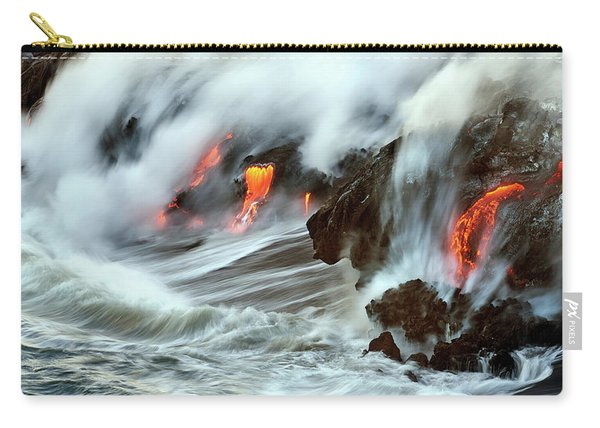 Lava And Ocean Carry-all Pouch