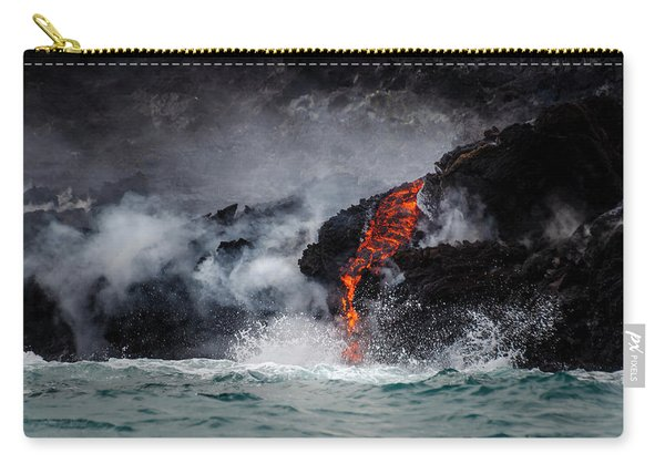 Lava Dripping Into The Ocean Carry-all Pouch