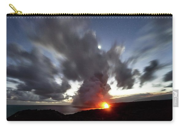 Lava Flow At Night Carry-all Pouch