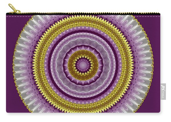 Lavender And Gold Lace Carry-all Pouch