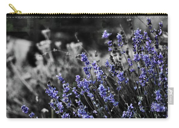 Lavender B And W Carry-all Pouch