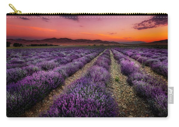 Lavender Fields At Sunrise Carry-all Pouch