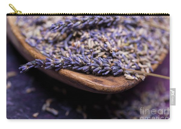 Lavender In A Wooden Scoop Carry-all Pouch