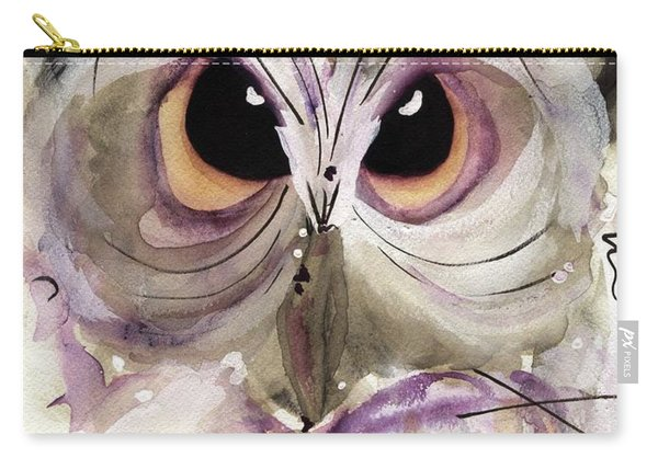 Lavender Owl Carry-all Pouch