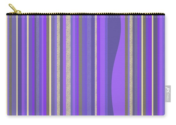 Lavender Random Stripe Abstract Carry-all Pouch