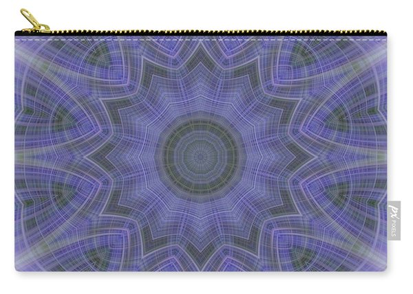 Lavender Twirl Kaleido Carry-all Pouch