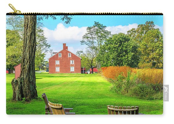 Carry-all Pouch featuring the photograph Adirondack Chair Viewing by Richard J Thompson