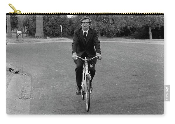 Lawyer On A Bicycle, 1971 Carry-all Pouch