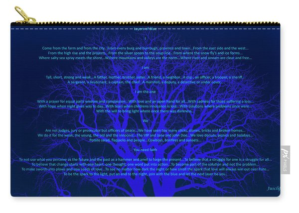 Layers Of Blue Carry-all Pouch