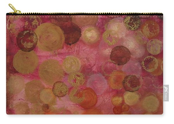 Layers Of Circles On Red Carry-all Pouch