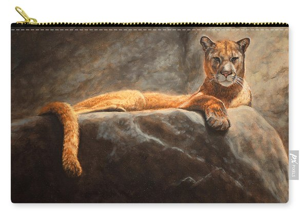 Laying Cougar Carry-all Pouch