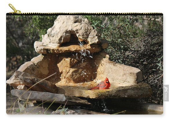 Carry-all Pouch featuring the photograph Lazy Bird Bath  by Christy Pooschke