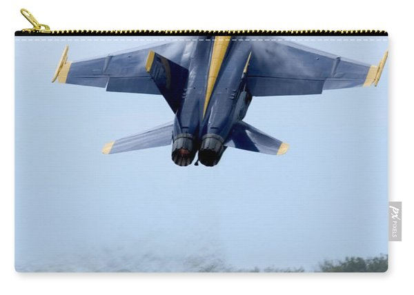 Lead Solo Pilot Of The Blue Angels Carry-all Pouch