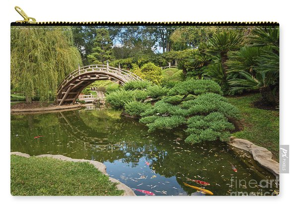 Lead The Way - The Beautiful Japanese Gardens At The Huntington Library With Koi Swimming. Carry-all Pouch