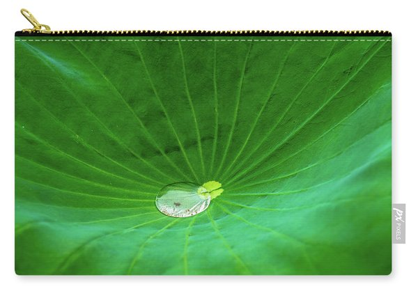 Leaf Cupping A Giant Water Drop Carry-all Pouch