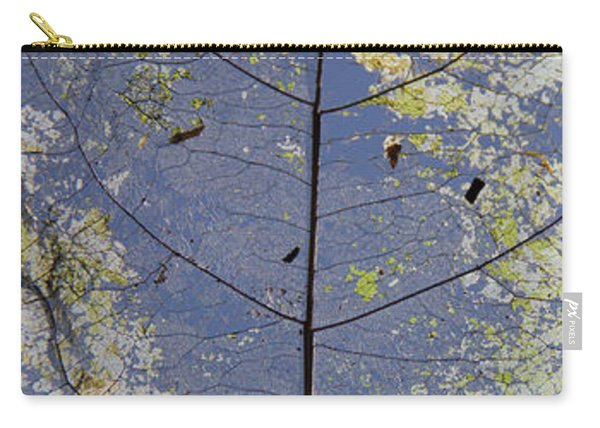 Carry-all Pouch featuring the photograph Leaf by Debbie Cundy