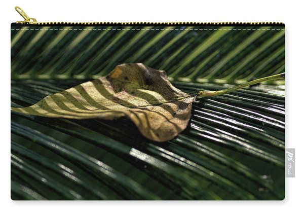 Leaf On Sago Palm Carry-all Pouch