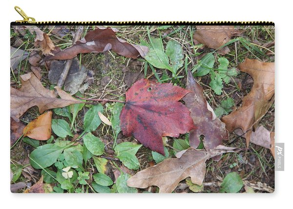 Leaf Standing Out In A Crowd Carry-all Pouch