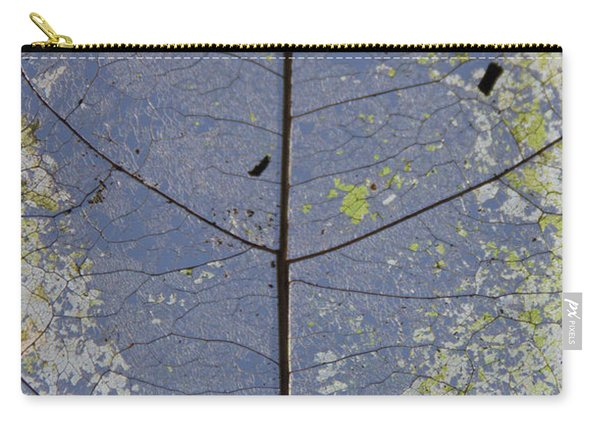 Carry-all Pouch featuring the photograph Leaf Structure by Debbie Cundy