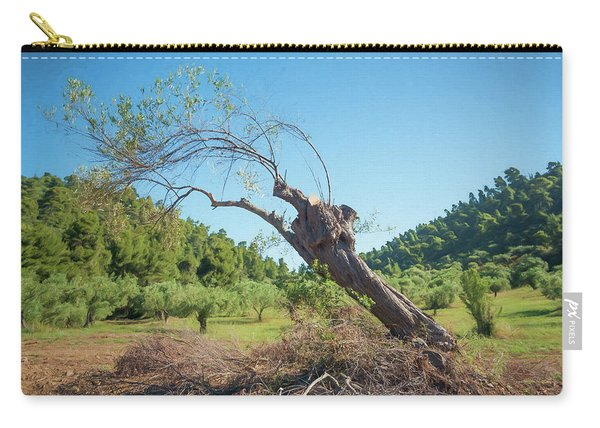 Leaning Olive Tree Carry-all Pouch