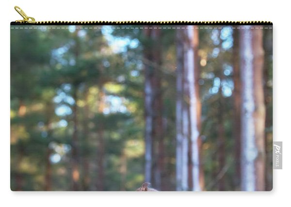 Leaping Red Squirrel Tall Carry-all Pouch