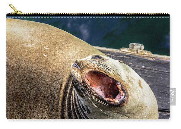 California Sea Lion Yawn Carry-all Pouch