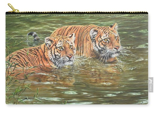 Carry-all Pouch featuring the painting Leave This To Me Sis by Alan M Hunt