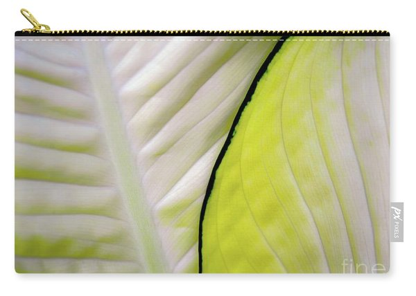 Leaves In White Carry-all Pouch