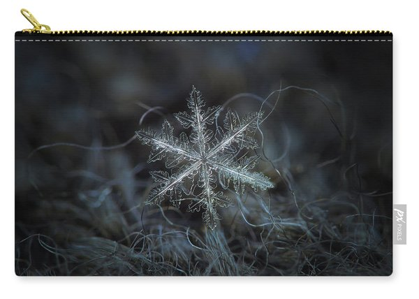 Carry-all Pouch featuring the photograph Leaves Of Ice, Panoramic Version by Alexey Kljatov