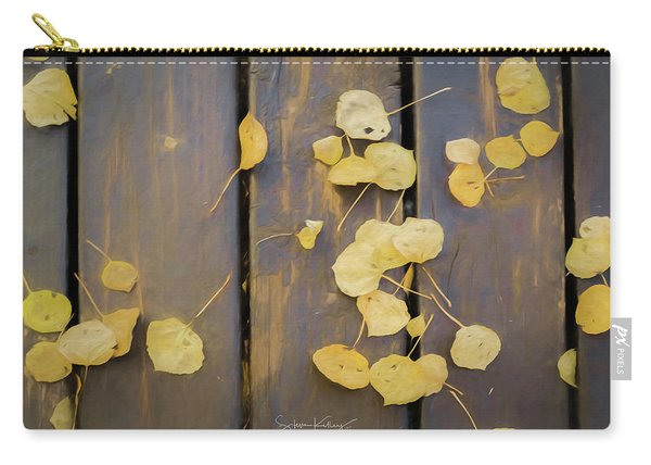 Leaves On Planks Carry-all Pouch
