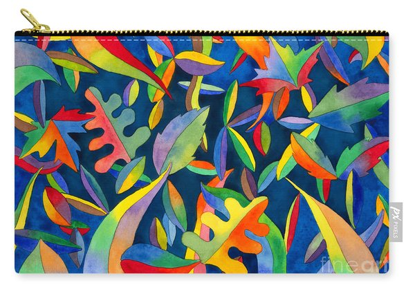 Leaves On Water Abstract Carry-all Pouch