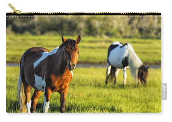 Leaving The Chincoteague Ponies Carry-all Pouch