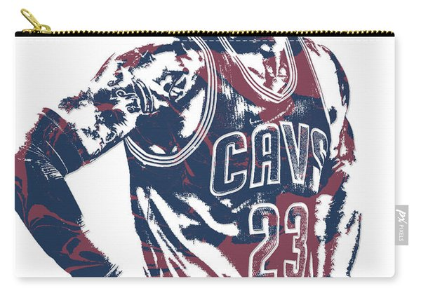 Lebron James Cleveland Cavaliers Pixel Art 25 Carry-all Pouch