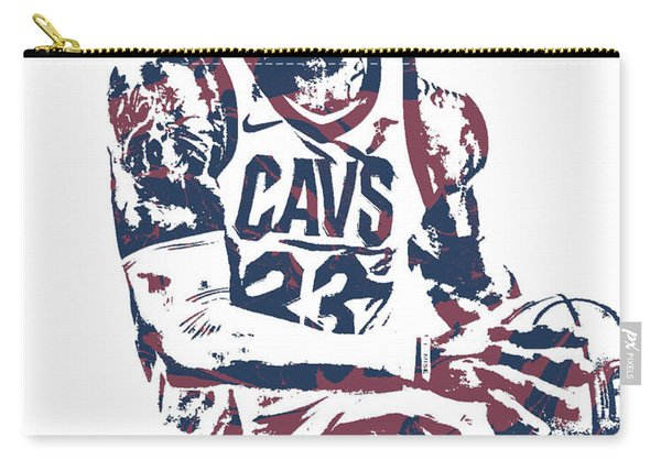 Lebron James Cleveland Cavaliers Pixel Art 50 Carry-all Pouch