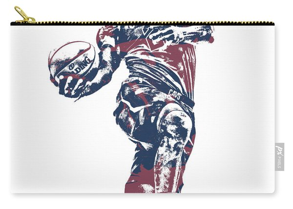 Lebron James Cleveland Cavaliers Pixel Art 52 Carry-all Pouch