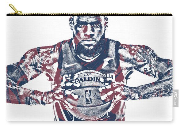 Lebron James Cleveland Cavaliers Pixel Art 54 Carry-all Pouch