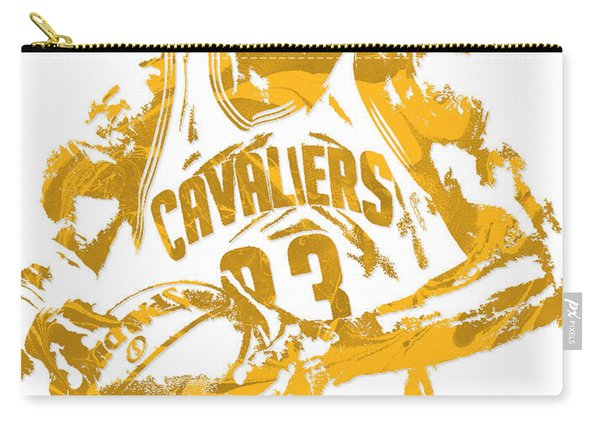 Lebron James Cleveland Cavaliers Pixel Art 6 Carry-all Pouch