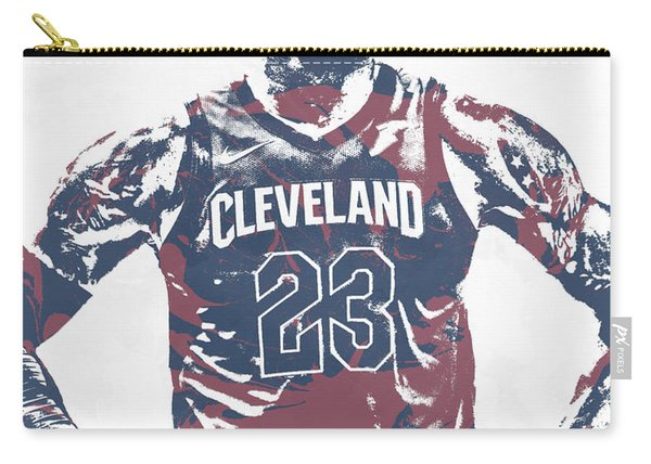 Lebron James Cleveland Cavaliers Pixel Art 62 Carry-all Pouch
