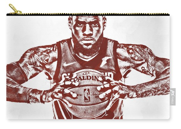 Lebron James Cleveland Cavaliers Pixel Art 63 Carry-all Pouch
