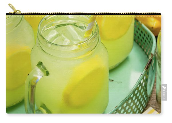 Lemonade In Blue Tray Carry-all Pouch
